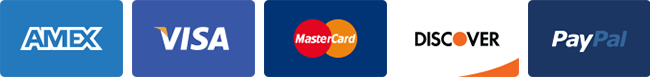 Accepted payment methods | VISA, AMEX, MasterCard, Discover, and PayPal